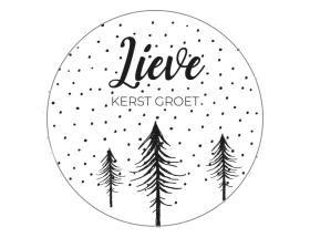 Sticker   Lieve kerst groet - 10 stuks