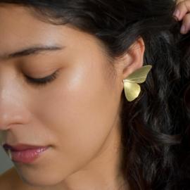 Alas oorbellen groot met diamant