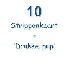 10-strippenkaart plus het Boekje 'Drukke pup'.