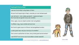 Postkaart spelregels Kind & Hond Boris en Bello