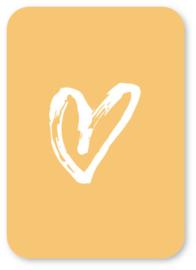 Minikaart Hart (geel)