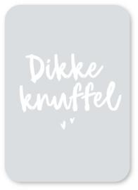 Minikaart Dikke Knuffel