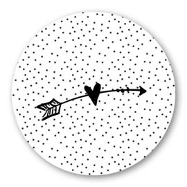 Sticker hartje met pijl