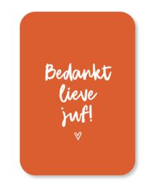Minikaart Bedankt lieve juf!