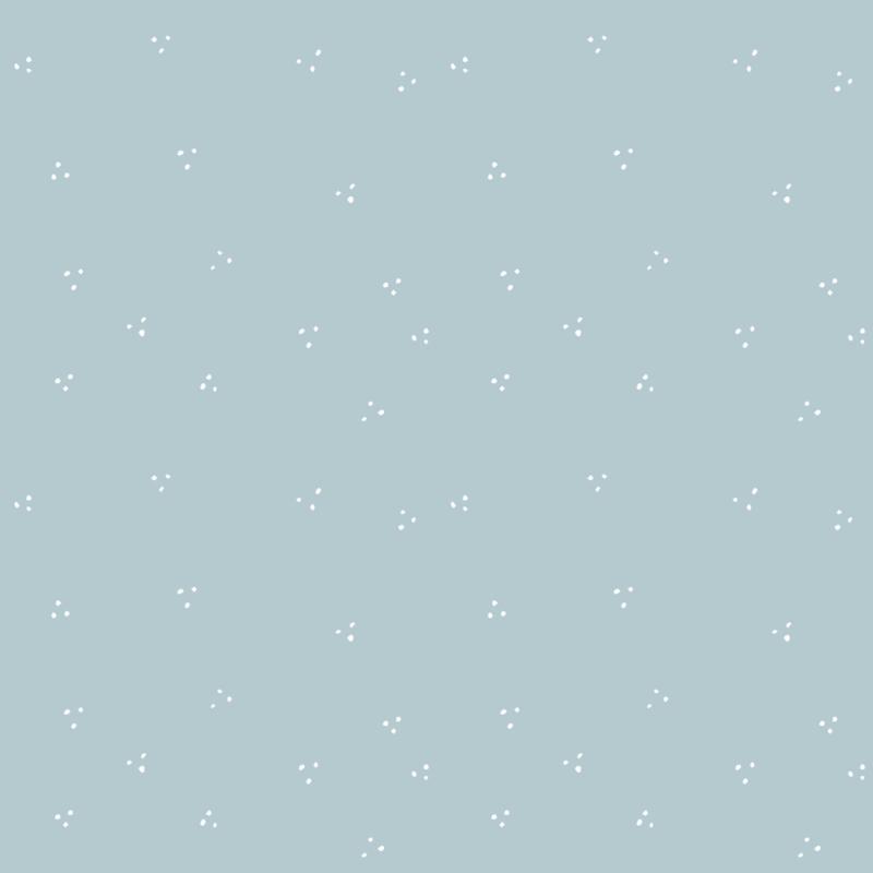Inpakpapier stipjes blauw