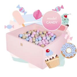 Roze ballenbak met 300 ballen - Candy Set