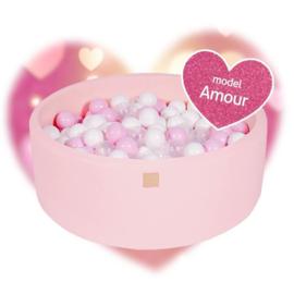 Roze ballenbak met 250 ballen - Liefde set