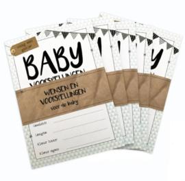Baby invul-kaartjes 10 kaartjes per set