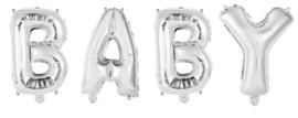 """Folie ballon """"Baby"""" zilver 40 cm"""