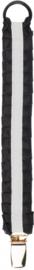 Bjällra of Sweden fopspeenketting junior 19 cm zwart/wit