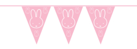 Vlaggenlijn Nijntje baby Roze 10m
