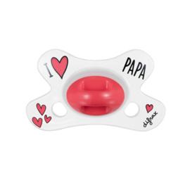 Difrax Fopspeen 0-6 Natural LOVE PAPA