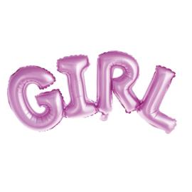 "Folie ballon ""Girl"" roze"