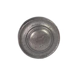 metalen knop rond plat