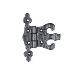 Zwarte scharnier 10 x 8.5 cm - 4 inch