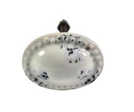 porseleinen knop ovaal shabby chic/w