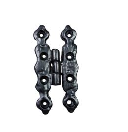 Zwarte scharnier 8,5 x 4 cm- 3,5 inch