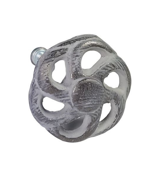 Deurknop metaal rond grijs-wheels