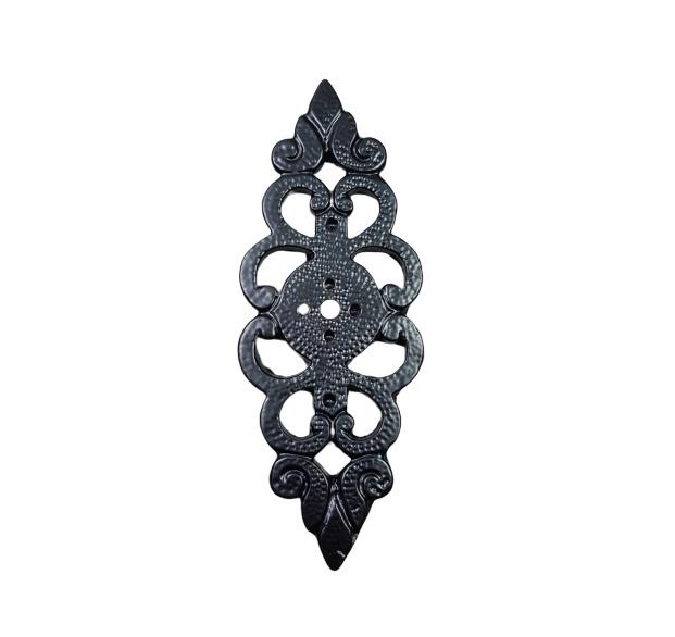 slotplaat 12,5 cm zwart