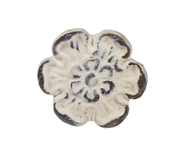 metalen knop bloem créme