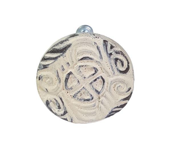 metalen knop rond henna/AW