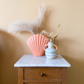 """Shell vase koraal """"groot"""""""
