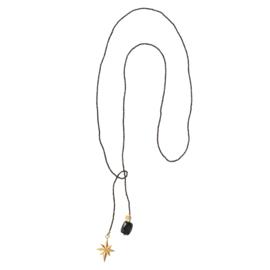 BS - Nova Black Onyx Gold Plated Necklace (BL26221)