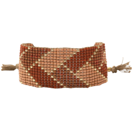 BS - Willow Carnelian Gold Plated Bracelet (BL24605)