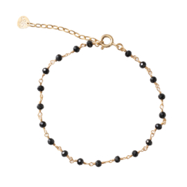 BS - Harmony  Black Onyx Sterling Silver Gold Plated (AW22499)