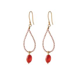 BS - Magical Carnelian Gold Earrings (BL24563)