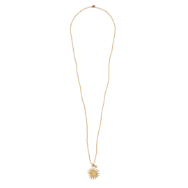 BS - Paradise Citrine Sun Gold Plated Necklace ((BL25613)