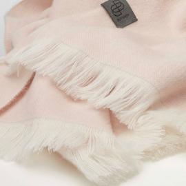 BU - Brushed Solid Alpaca Shawl Pastel Pink (880455)