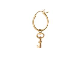 BS - Key Silver Gold Plated Hoop Earring (ES1052)