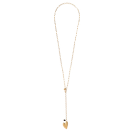 BS - Comfort Black Onyx Gold Plated Necklace (AW26204)