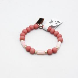 MB - Armbandje Staafje roze 0-6j