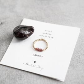BS - Beauty Garnet Gold Plated Ring S/M (BL22975)