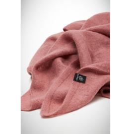 BU - Knitted Solid Baby Alpaca Shawl Dusty Pink (660011)