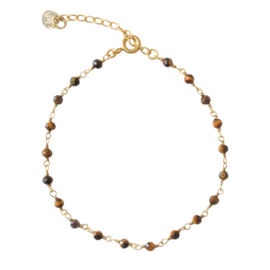 BS - Harmony Tiger Eye Silver Gold Plated Bracelet (AW24499)
