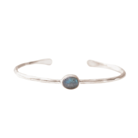 BS - Moonlight Labradorite Silver Plated Bracelet (AW24729)