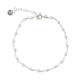 BS - Harmony Blue Lace Agate Silver Bracelet (AW22599)