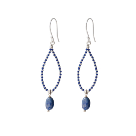 BS - Magical Lapis Lazuli Silver Earrings (BL24863)