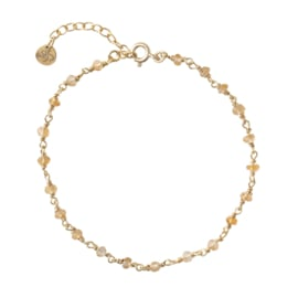 BS - Harmony Citrine Silver Gold Plated Bracelet (AW23099)