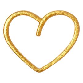 LU - Happy Heart 1pcs Gold Plated (1123-LL62)