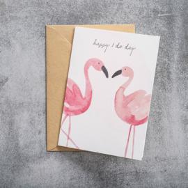 BS - Greeting Card Flamingos (GC0055)