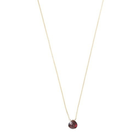 BS - Divine Garnet Silver Gold Plated Necklace (AW25133)