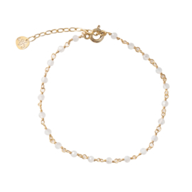 BS - Harmony Moonstone Silver Gold Plated Bracelet (AW22399)