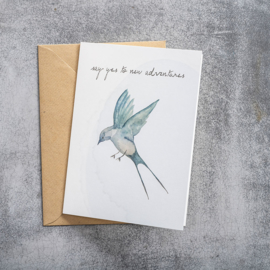 BS - Greeting Card Swallow (GC0040)
