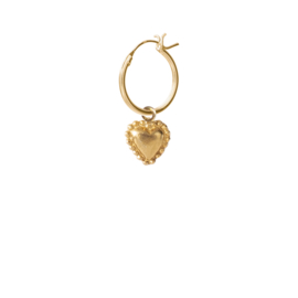 BS -Heart Silver Gold Plated Hoop Earring (ES1050)