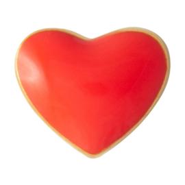 LU - Love U 1pcs Enamel Red  (1024-LL30)