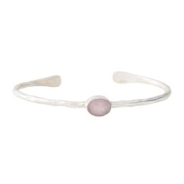 BS - Moonlight Rose Quartz Silver Plated Bracelet (AW24129)
